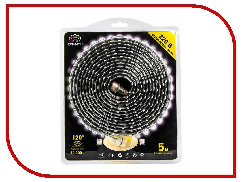 Светодиодная лента Neon-Night SMD 3528 60led/m 24V 220W 5m IP67 WW White 142-606-05