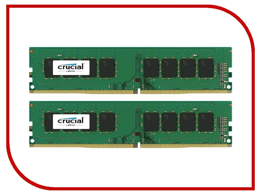 Модуль памяти Crucial DDR4 DIMM 2133MHz PC4-17000 Reg 1.2V - 8Gb (2x4Gb) CT2K4G4DFS8213 Retail модуль памяти crucial ddr4 so dimm 2133mhz pc4 17000 8gb ct8g4sfd8213