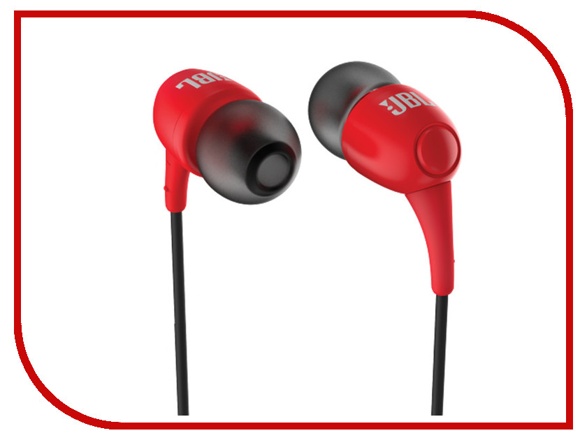 Наушники JBL T100 Red наушники bluetooth jbl e55bt red jble55btred