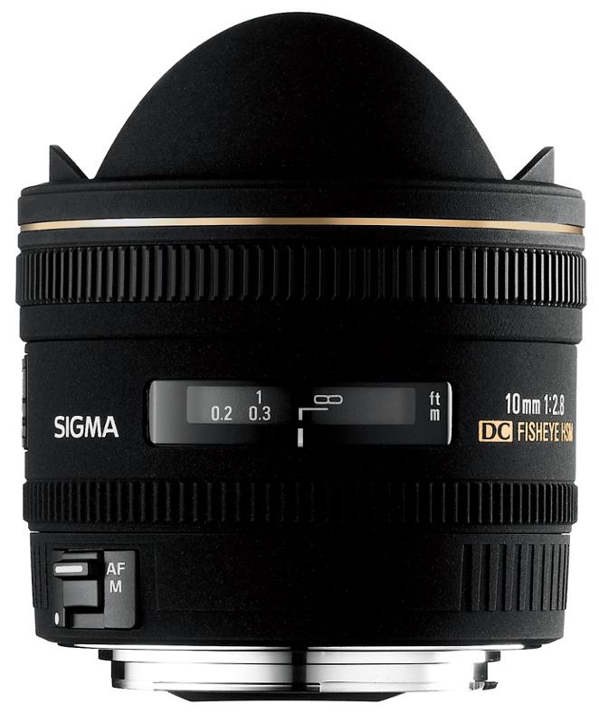 Объектив Sigma Nikon AF 10 mm F/2.8 EX DC Fisheye HSM