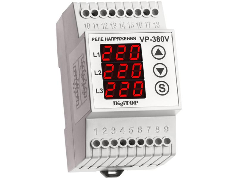 Реле контроля напряжения Digitop Vp-380V