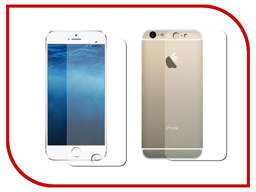 Аксессуар Защитная пленка Ainy для iPhone 6 (передняя+задняя) глянцевая<br>