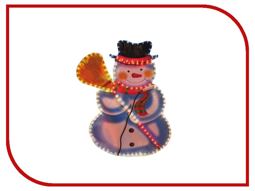 Светильник Новогодняя Сказка Снеговик с метлой 902