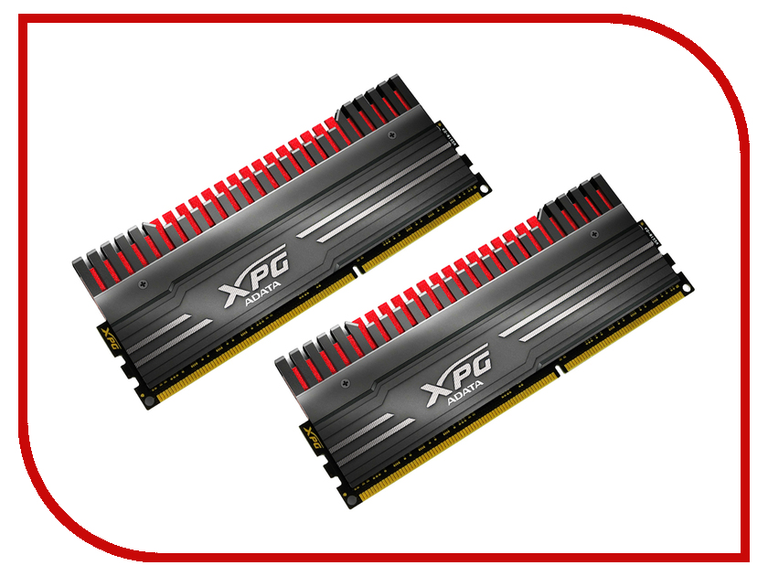 ������ ������ A-Data XPG V3 DDR3 DIMM 1866MHz PC3-14900 CL10 - 8Gb KIT (2x4Gb) AX3U1866W4G10-DBV-RG