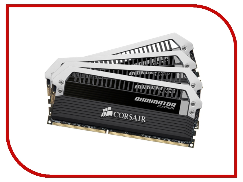 Модуль памяти Corsair Dominator Platinum DDR4 DIMM 2400MHz PC4-19200 - 32Gb KIT (4x8Gb) CMD32GX4M4A2400C14 модуль памяти patriot memory ddr4 so dimm 2400mhz pc4 19200 cl17 4gb psd44g240041s