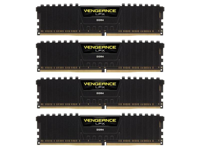 Модуль памяти Corsair Vengeance LPX PC4-21300 DIMM DDR4 2666MHz - 32Gb KIT (4x8Gb) CMK32GX4M4A2666C15<br>