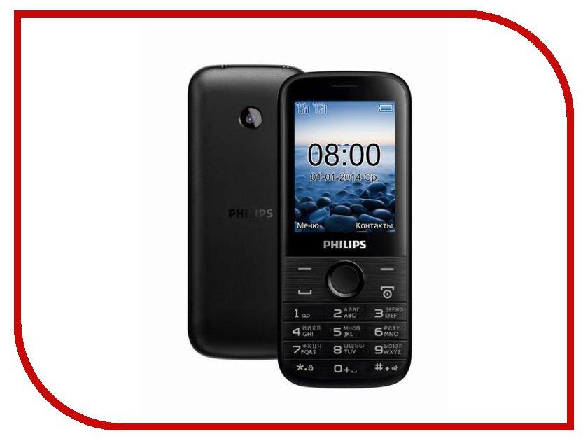 Сотовый телефон Philips E160 Xenium Black<br>