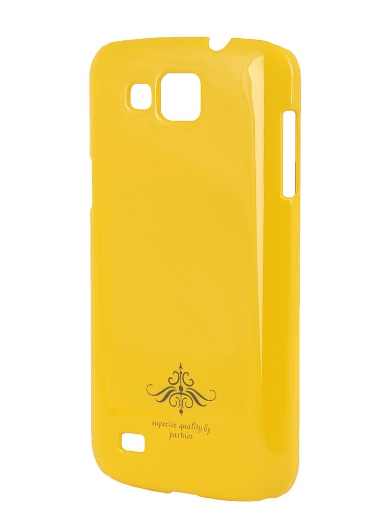 Аксессуар Чехол-накладка Samsung GT-i9260 Galaxy Premier Partner Yellow ПР028055