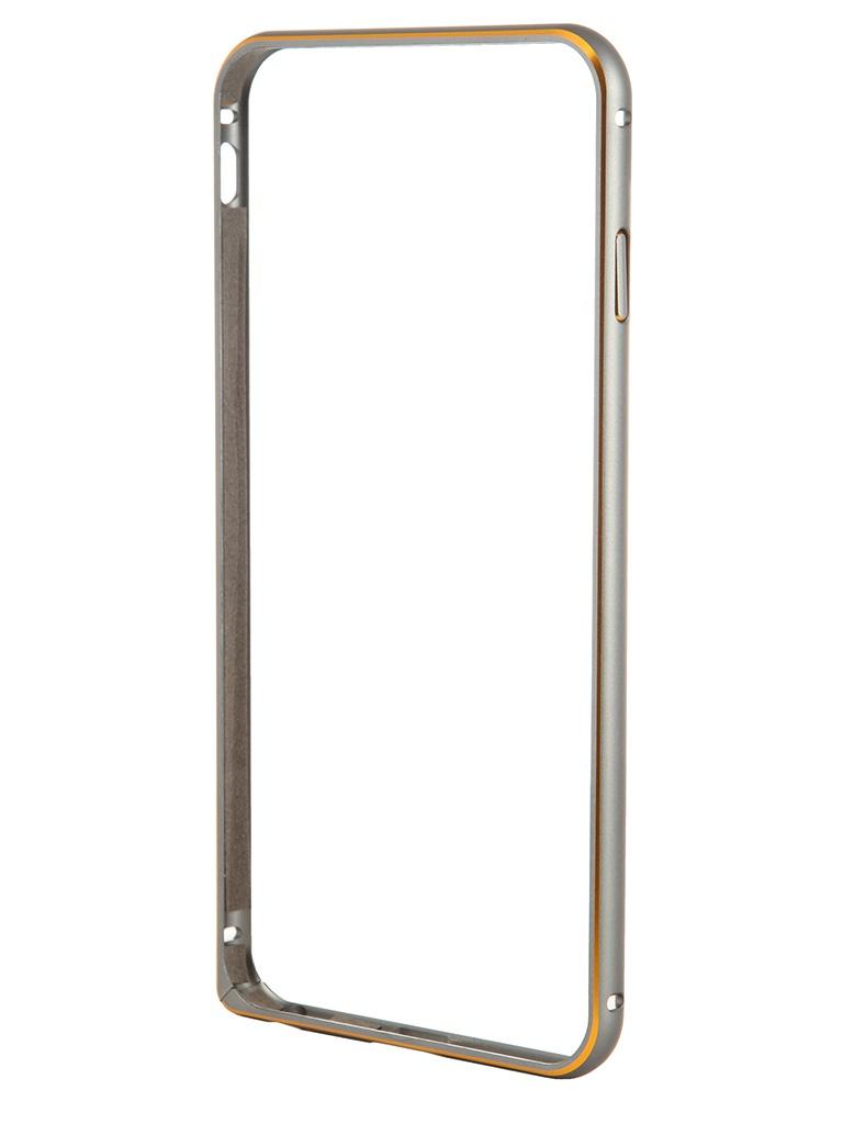 Аксессуар Чехол-бампер Ainy for iPhone 6 Plus Grey QC-A014K аксессуар защитная пленка ainy for iphone 6 plus передняя глянцевая