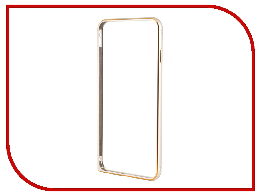 Аксессуар Чехол-бампер Ainy for iPhone 6 Plus Silver QC-A014Q аксессуар чехол бампер ainy for iphone 6 plus grey qc a014k