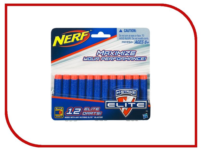 Игрушка Hasbro NERF Комплект 12 стрел для бластеров 0350492A естественных афро бирюзовый круглых бусин пряди темно зеленые 6 мм отверстие 1 мм около 63 шт нитка 15 3