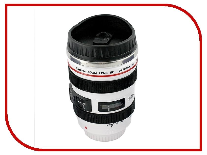 Термокружка Эврика Стакан в виде объектива от фотоаппарата 3 White 95386