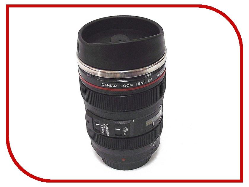 Термокружка Эврика Стакан в виде объектива от фотоаппарата 3 Black 94521