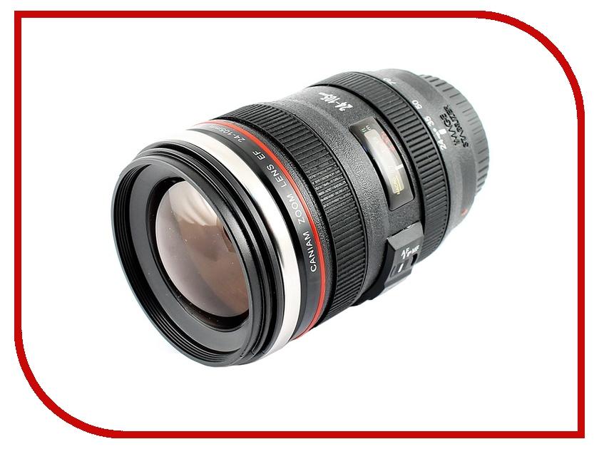 Термокружка Эврика Стакан в виде объектива от фотоаппарата 5 Brown Lens