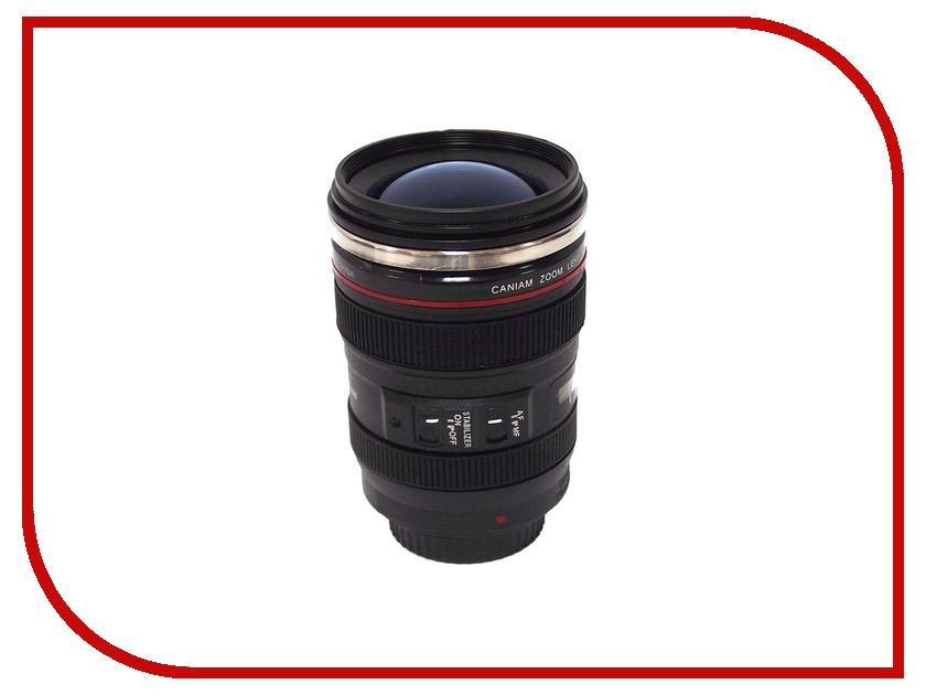 Термокружка Эврика Стакан в виде объектива от фотоаппарата 5 Blue Lens