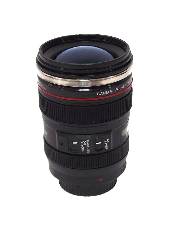 Кружка Эврика Стакан в виде объектива от фотоаппарата 5 Blue Lens