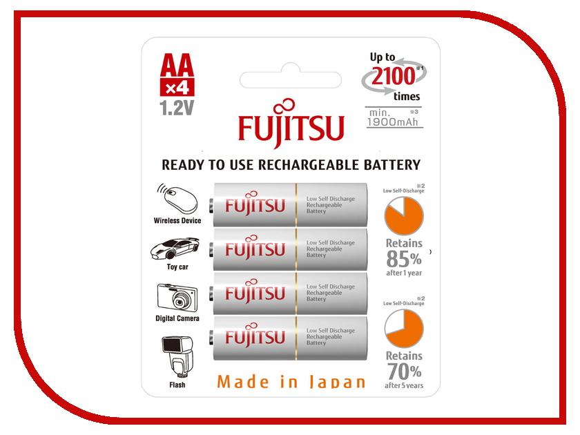 Аккумулятор AA - Fujitsu HR-3UTCEX(4B) 1900 mAh (4 штуки)<br>