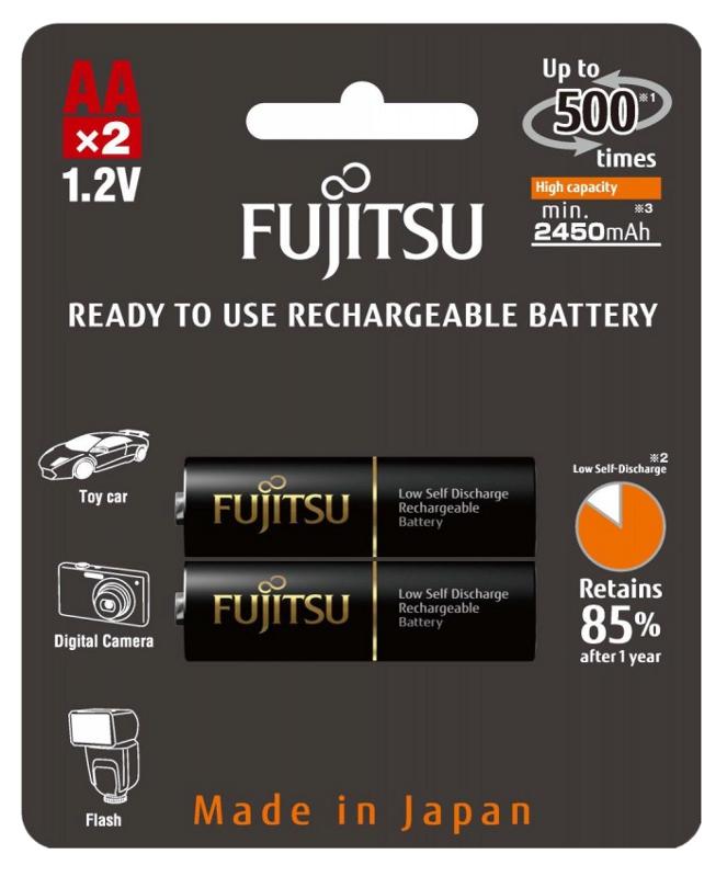 Аккумулятор AA - Fujitsu HR-3UTHCEX(2B) 2450 mAh (2 штуки)