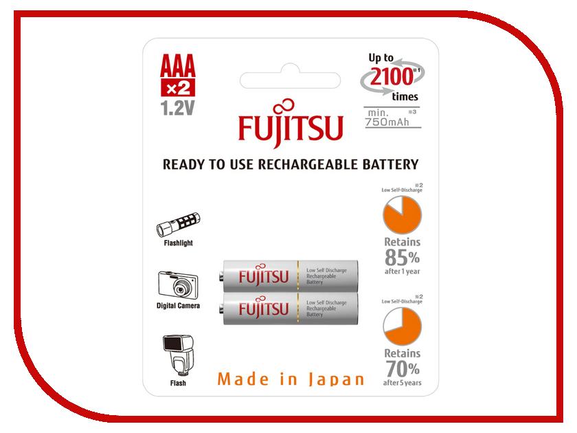 Аккумулятор AAA - Fujitsu HR-4UTCEX(2B) 750 mAh (2 штуки)<br>