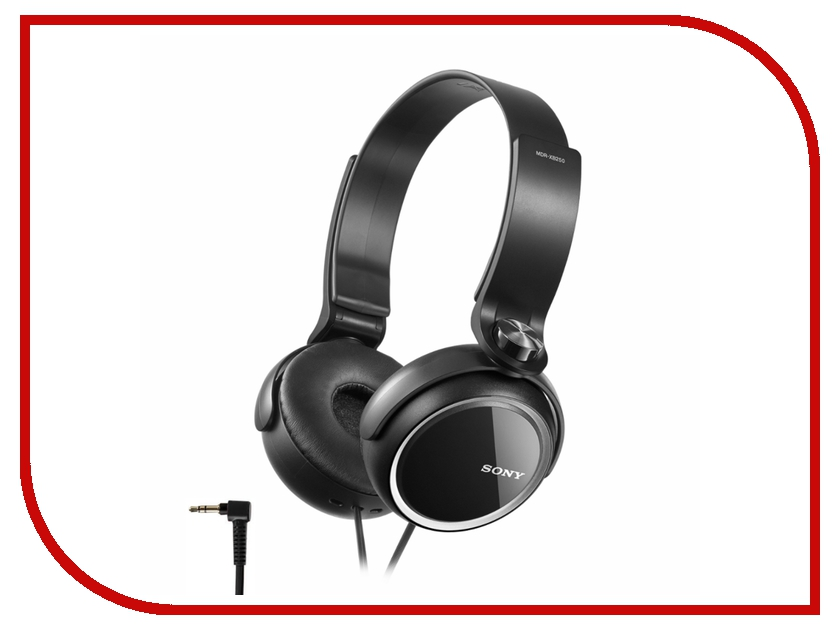 Наушники Sony MDR-XB250 Black<br>