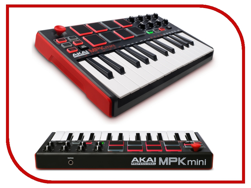 MIDI-клавиатура AKAI pro MPK-MINI MKII akai professional mpc studio black