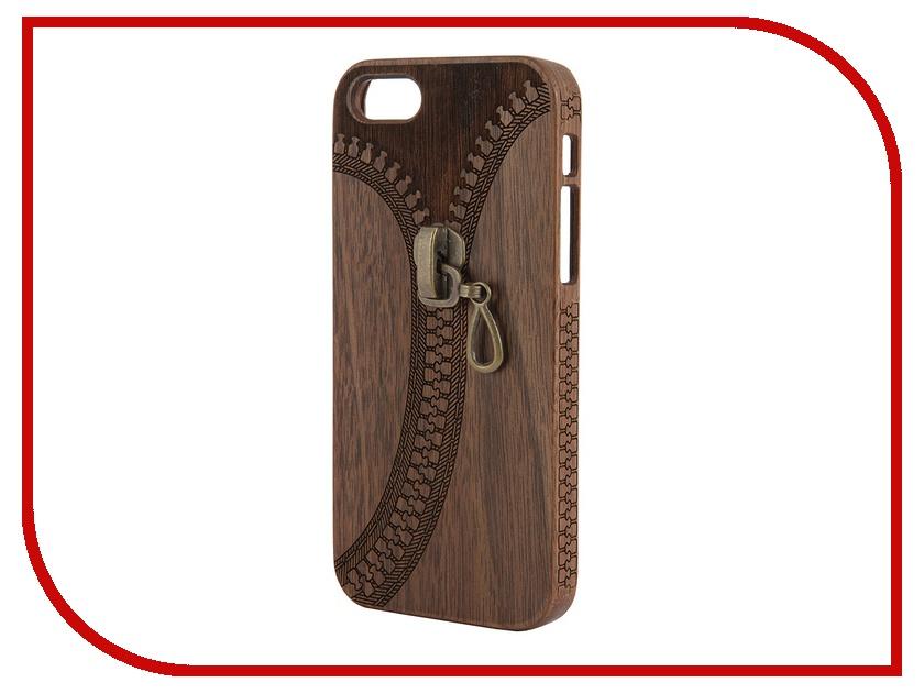 Аксессуар Чехол Vicardi wziw-i5 для iPhone 5 / 5S Zipper Wood<br>