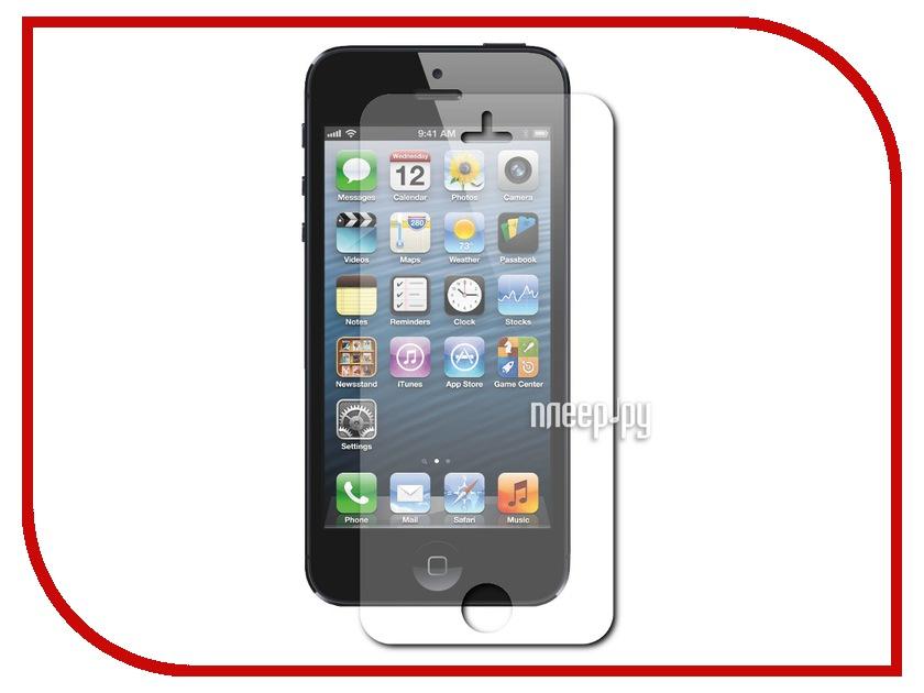 Аксессуар Стекло защитное LuxCase 0.2mm for iPhone 5 / 5S / 5C суперпрозрачное 80295<br>