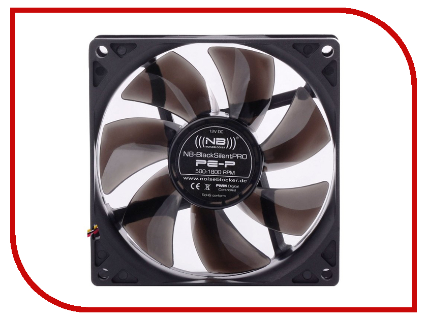 Вентилятор Noiseblocker BlackSilentPRO PE-P 92mm 500-1800rpm<br>