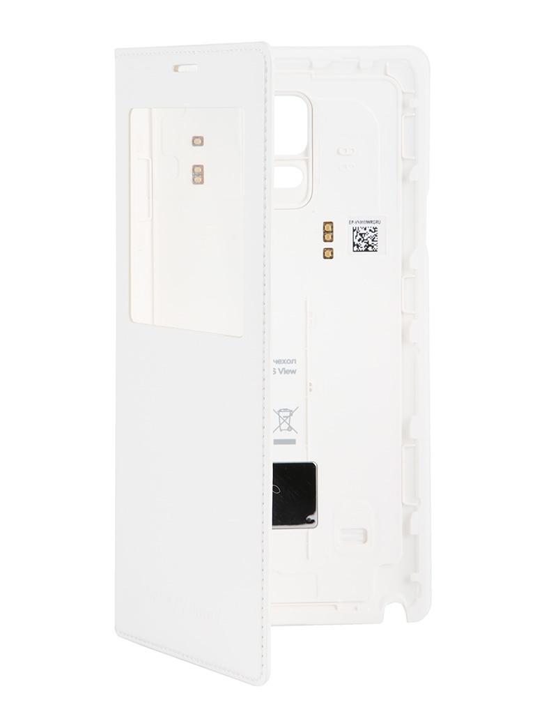 Аксессуар Задняя крышка Samsung SM-N910 Galaxy Note 4 S-View EP-VN910IWRGRU White для беспроводной зарядки