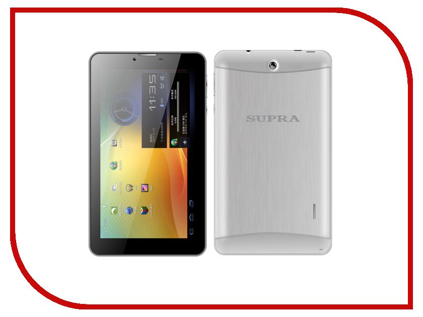 Планшет SUPRA M722G Aluminum Grey MediaTek MTK8312 Dual Core 1.2 GHz/512Mb/4Gb/Wi-Fi/3G/Bluetooth/Cam/7.0/1024x600/Android<br>