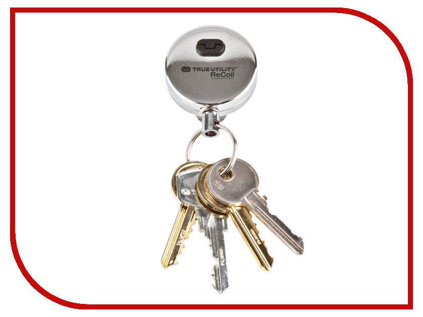 Брелок True Utility ReCoil TU235 Брелок для ключей с вытягивающимся кольцом