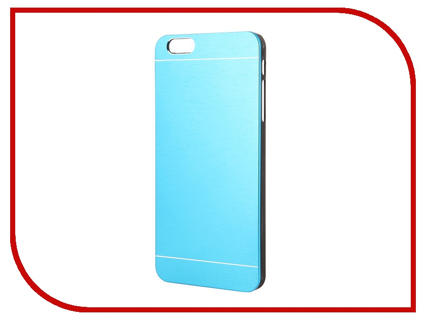 Аксессуар Клип-кейс Prolife Platinum Hi-tech for iPhone 6 Plus пластик, металл Blue 4103953