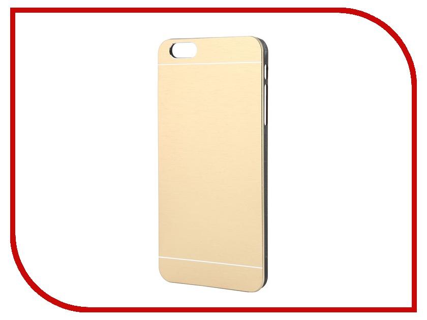Аксессуар Клип-кейс Prolife Platinum Hi-tech for iPhone 6 Plus пластик, металл Gold 4103951<br>