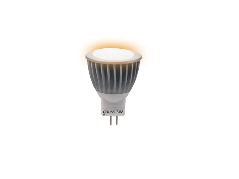 Лампочка Gauss LED GU4 MR11 3W AC220-240V 2700K FROST 132517103