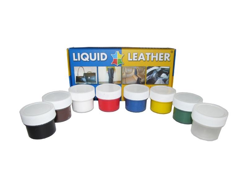 Средство для ремонта изделий из кожи Liquid Leather набор 7 цветов