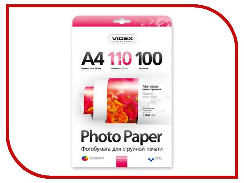 Фотобумага Videx MKA4-110/100 A4 110g/m2 матовая 100 листов