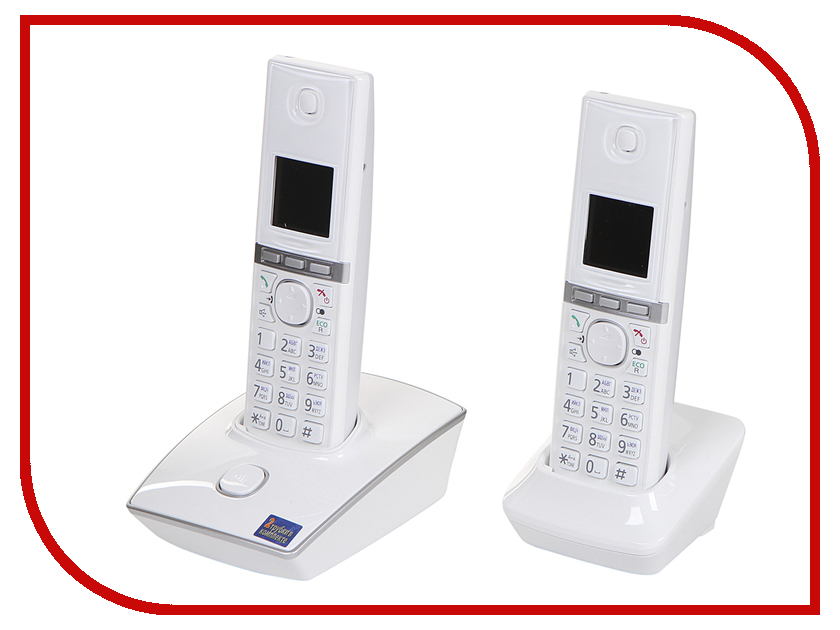Радиотелефон Panasonic KX-TG8052 RUW White unlim пульт управления