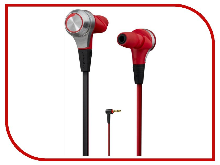Гарнитура Pioneer SE-CX9 Red-Silver<br>