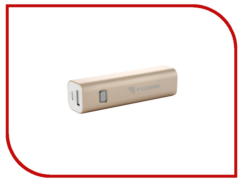 Аккумулятор Fujimi Power Bank 3000 mAh FJPB-BL001G Gold