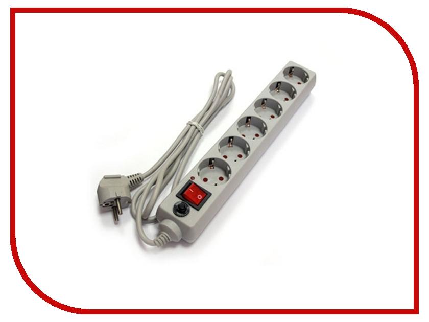 Сетевой фильтр UNIVersal 6 Sockets 10m Grey 967U-5010