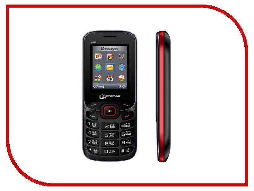 Сотовый телефон Micromax X088 Black-Red<br>
