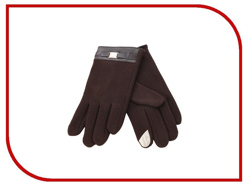 Теплые перчатки для сенсорных дисплеев iCasemore кашемировые с пряжкой Brown<br>