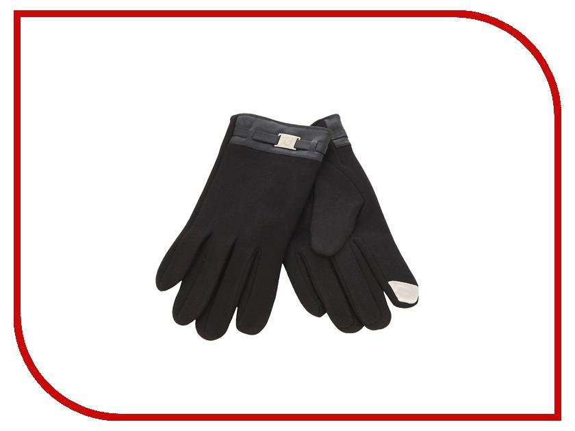 Теплые перчатки для сенсорных дисплеев iCasemore кашемировые с пряжкой Black<br>