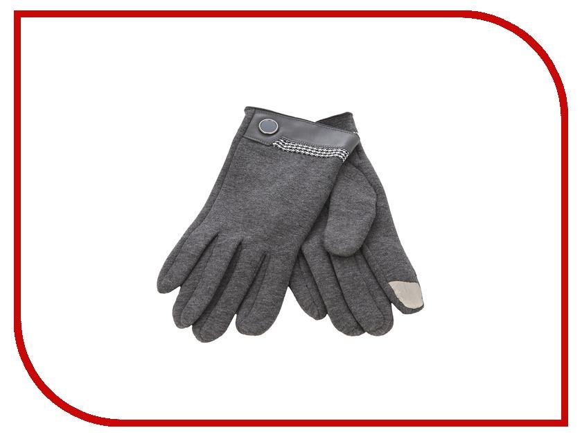 Теплые перчатки для сенсорных дисплеев iCasemore кашемировые с кнопкой Grey<br>