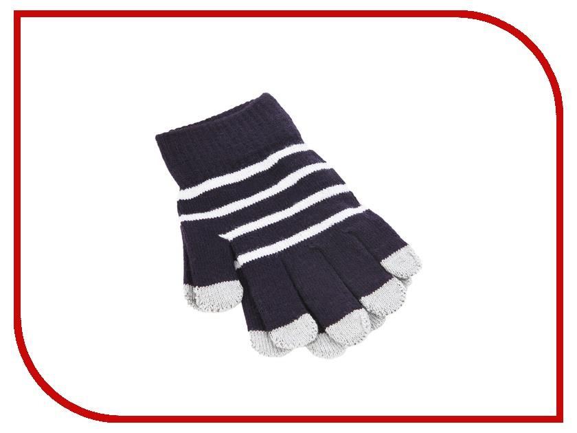 Теплые перчатки для сенсорных дисплеев iCasemore трикотажные Blue<br>