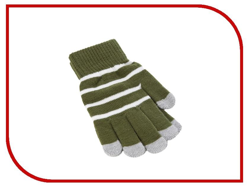 Теплые перчатки для сенсорных дисплеев iCasemore трикотажные Green<br>