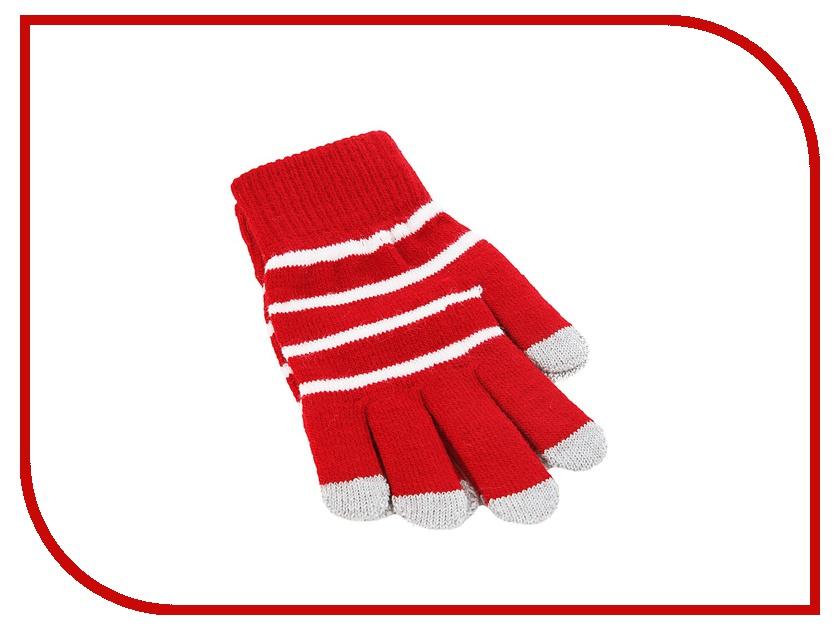 Теплые перчатки для сенсорных дисплеев iCasemore трикотажные Red<br>