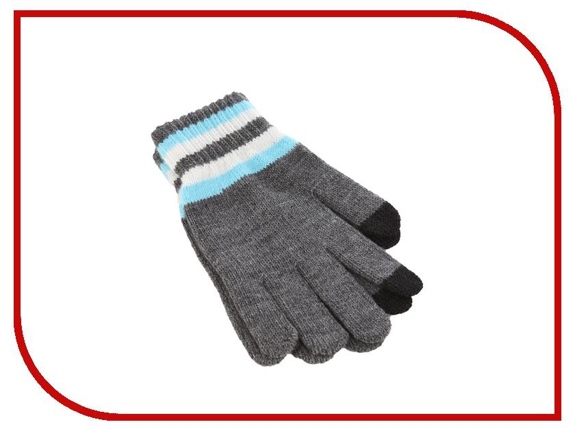 Теплые перчатки для сенсорных дисплеев iCasemore трикотажные р.UNI Grey