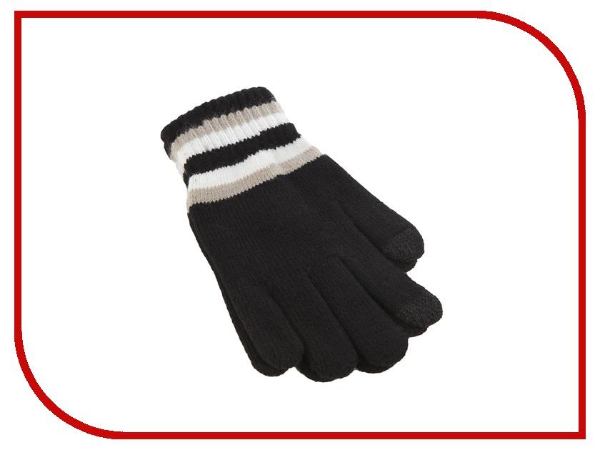 Теплые перчатки для сенсорных дисплеев iCasemore трикотажные полосы на манжетах Black<br>