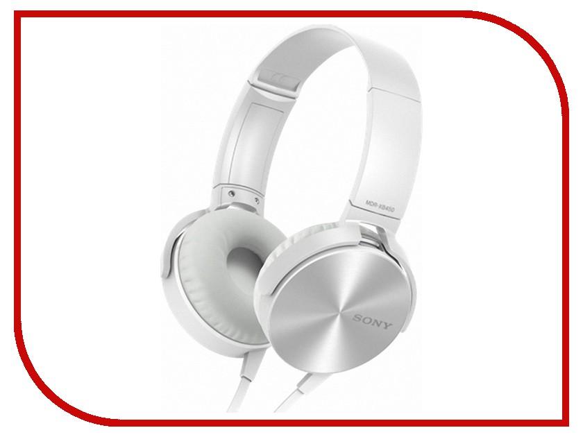 Гарнитура Sony MDR-XB450AP White<br>